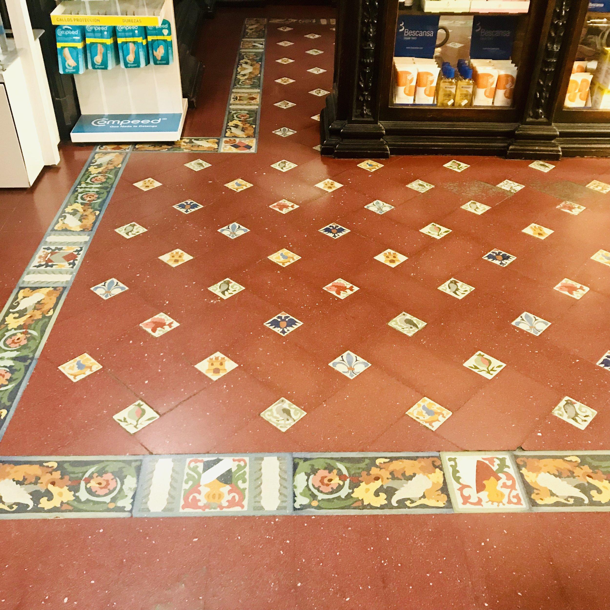 Pharmacy floor in Santiago de Compostela