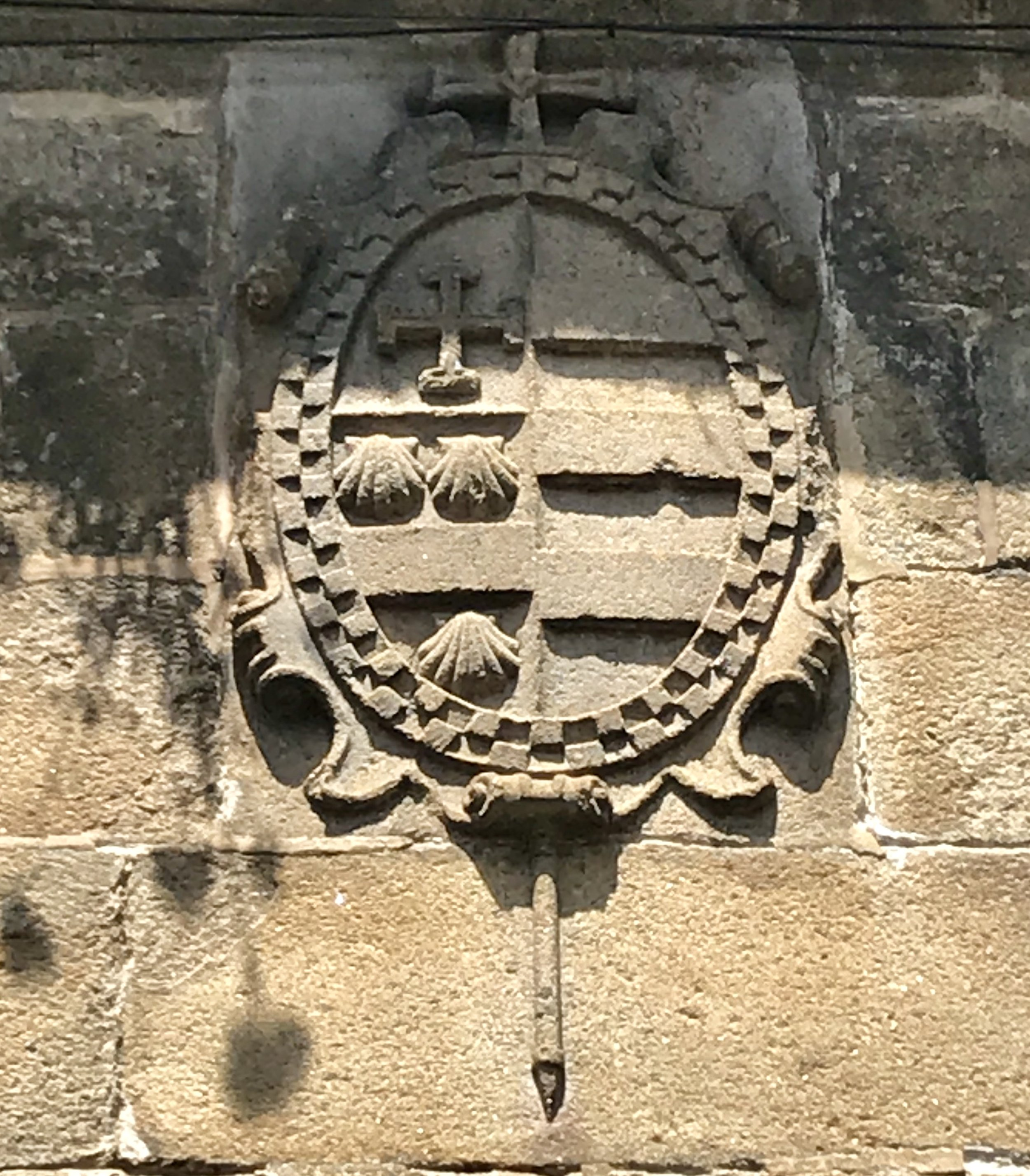 Significant wall carvings on the Pilgrims Trail (Santiago de Compostela).