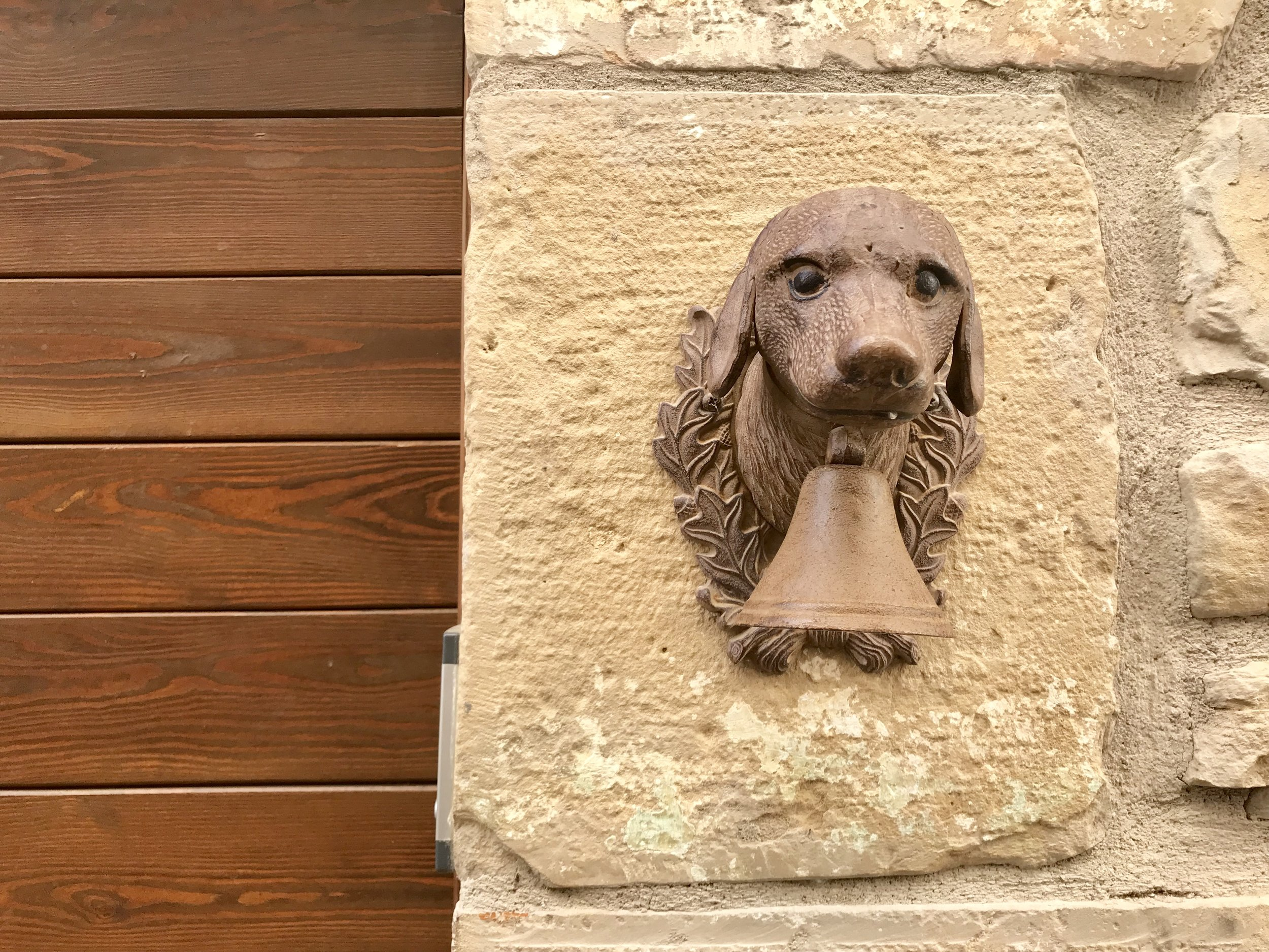 Charming dog door knocker