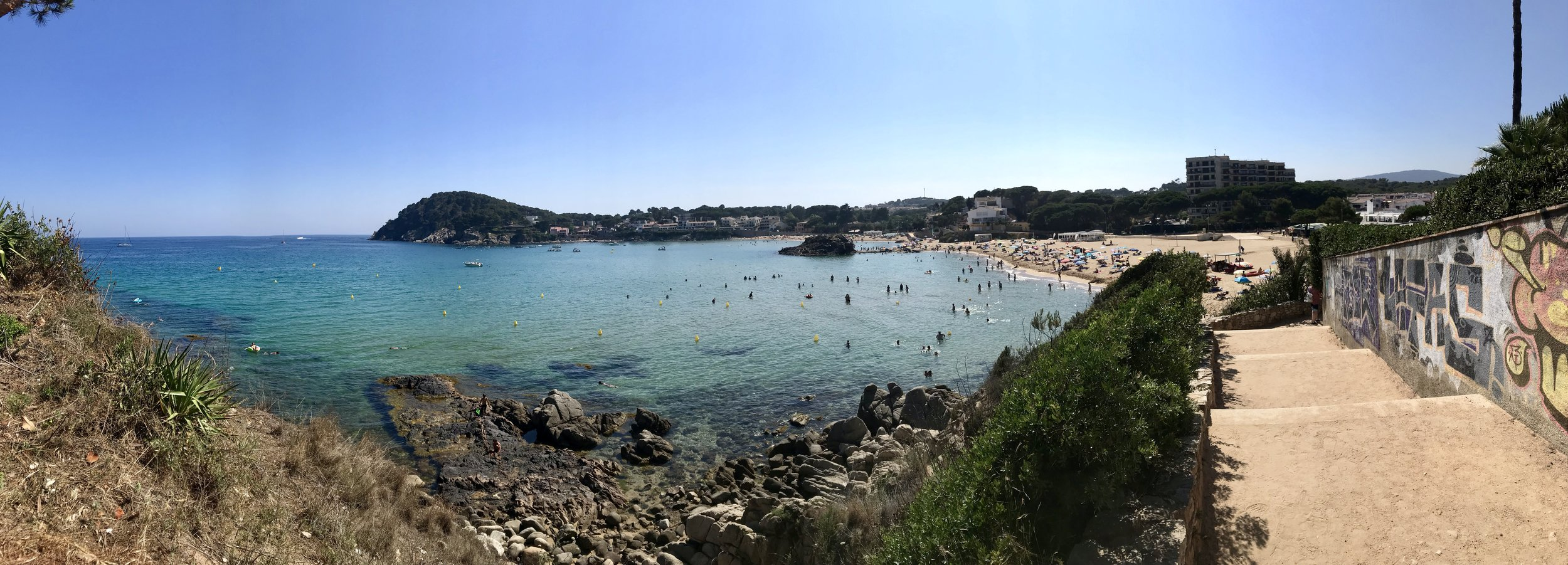 The walking trail along La Fosca beaches.
