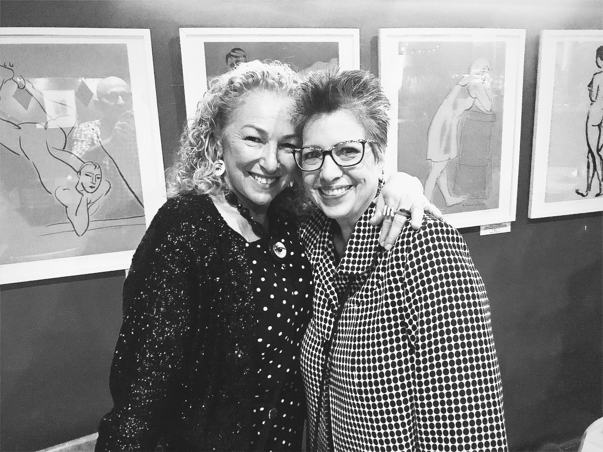 Me and my buddy, author Marta Acosta, in black and white.