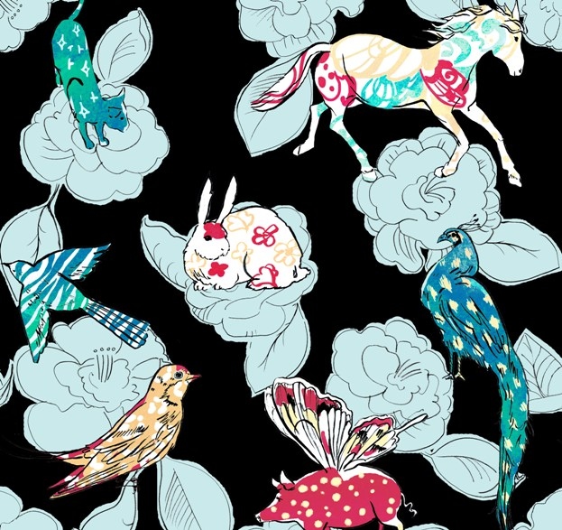 Exotic Animals Print for Apparel