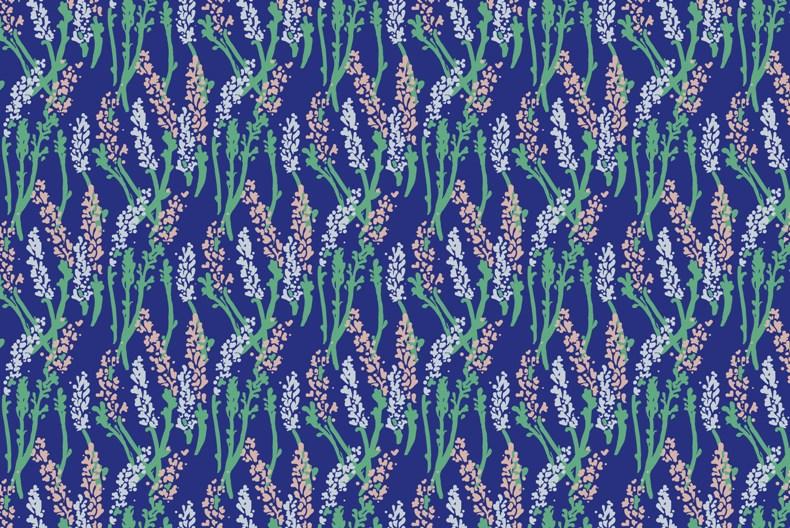 Lavender Field Print (for Spoonflower)