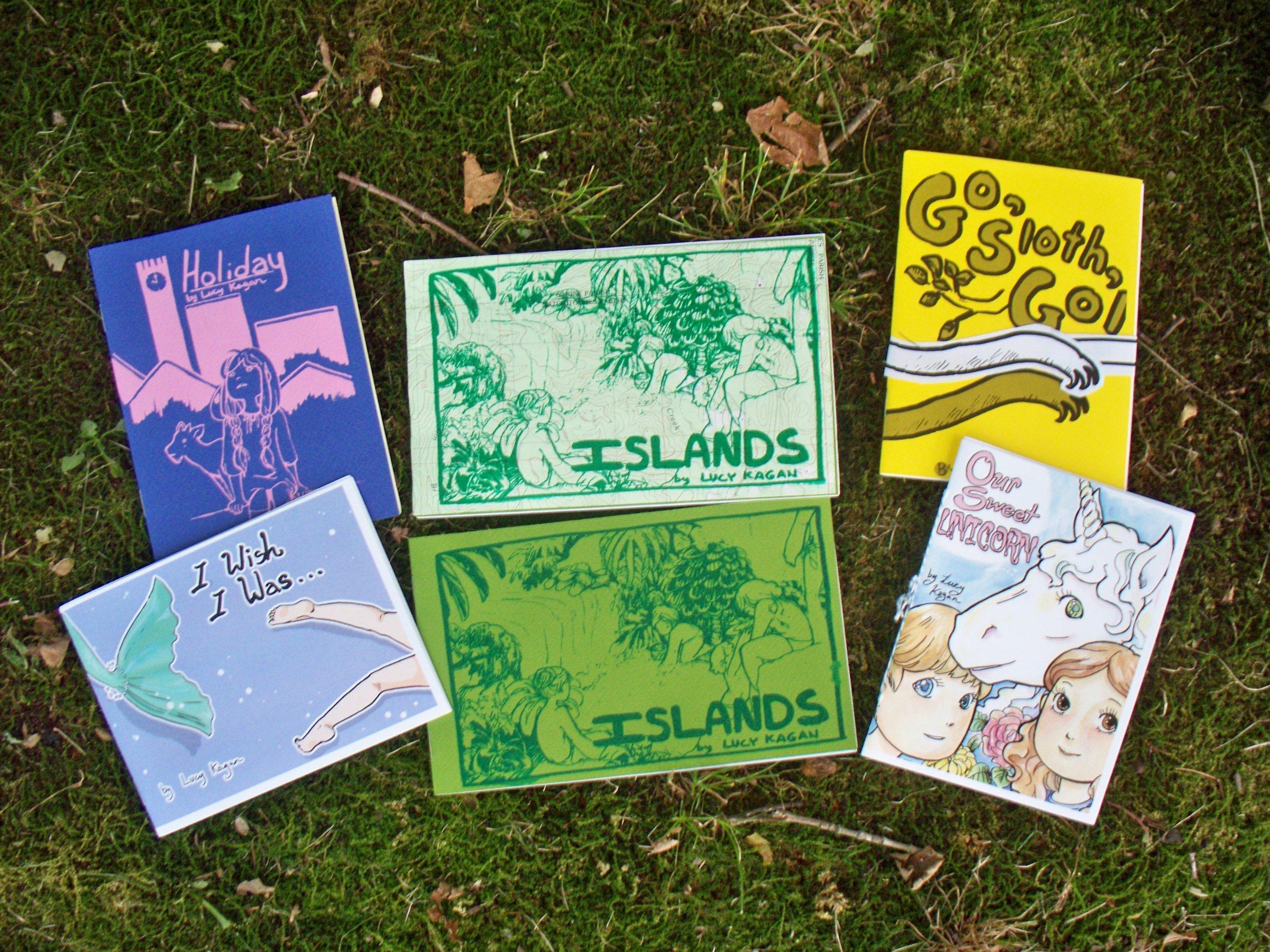 Various Minicomics by Lucy Kagan