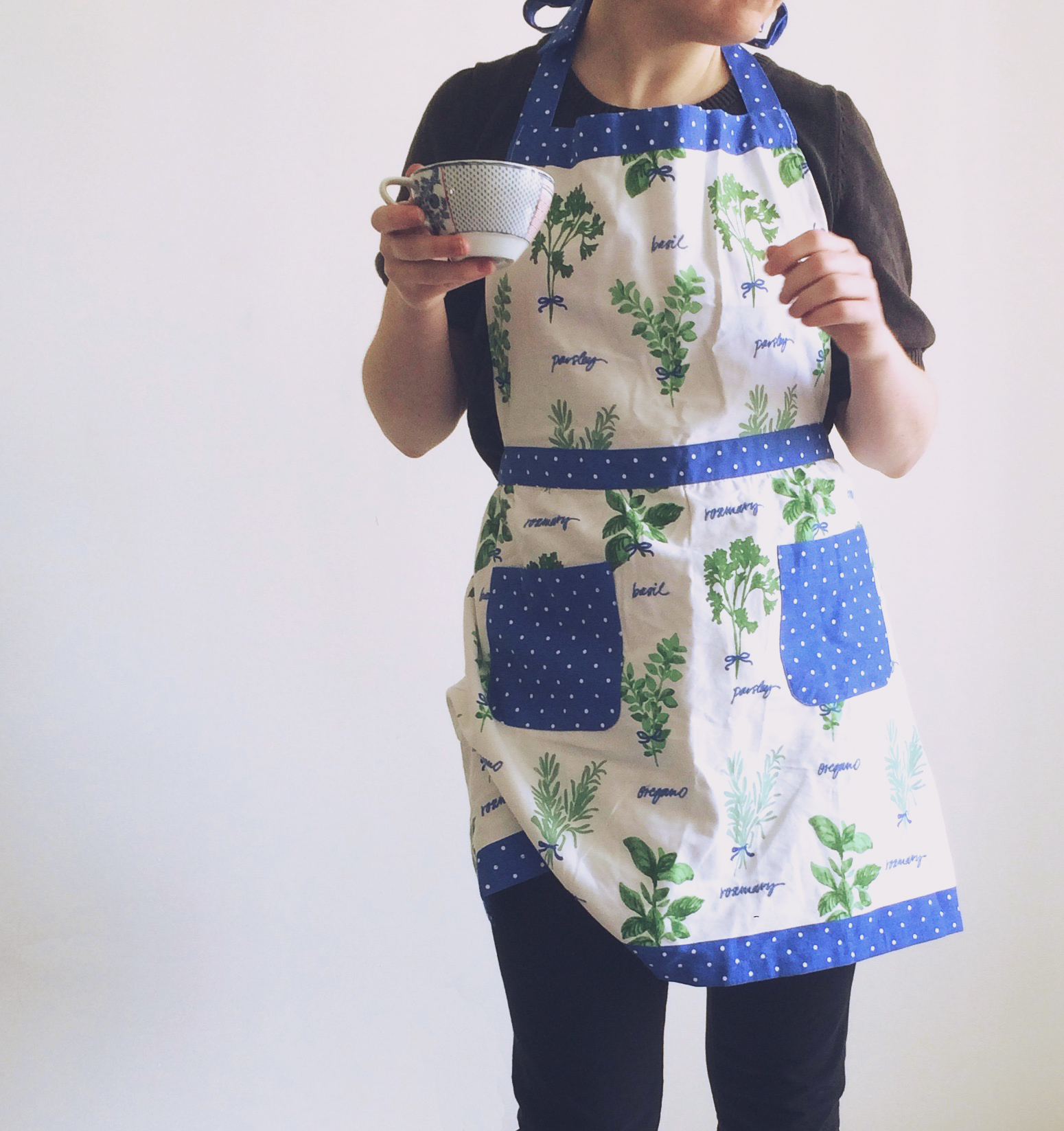 Fresh Herbs Apron for the Martha Stewart Collection
