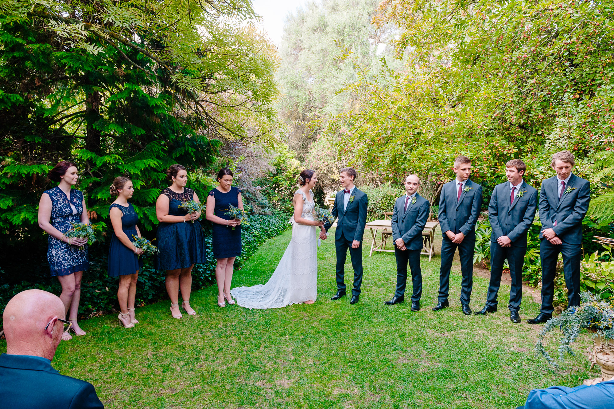 Bridal party at Chateau Dore wedding