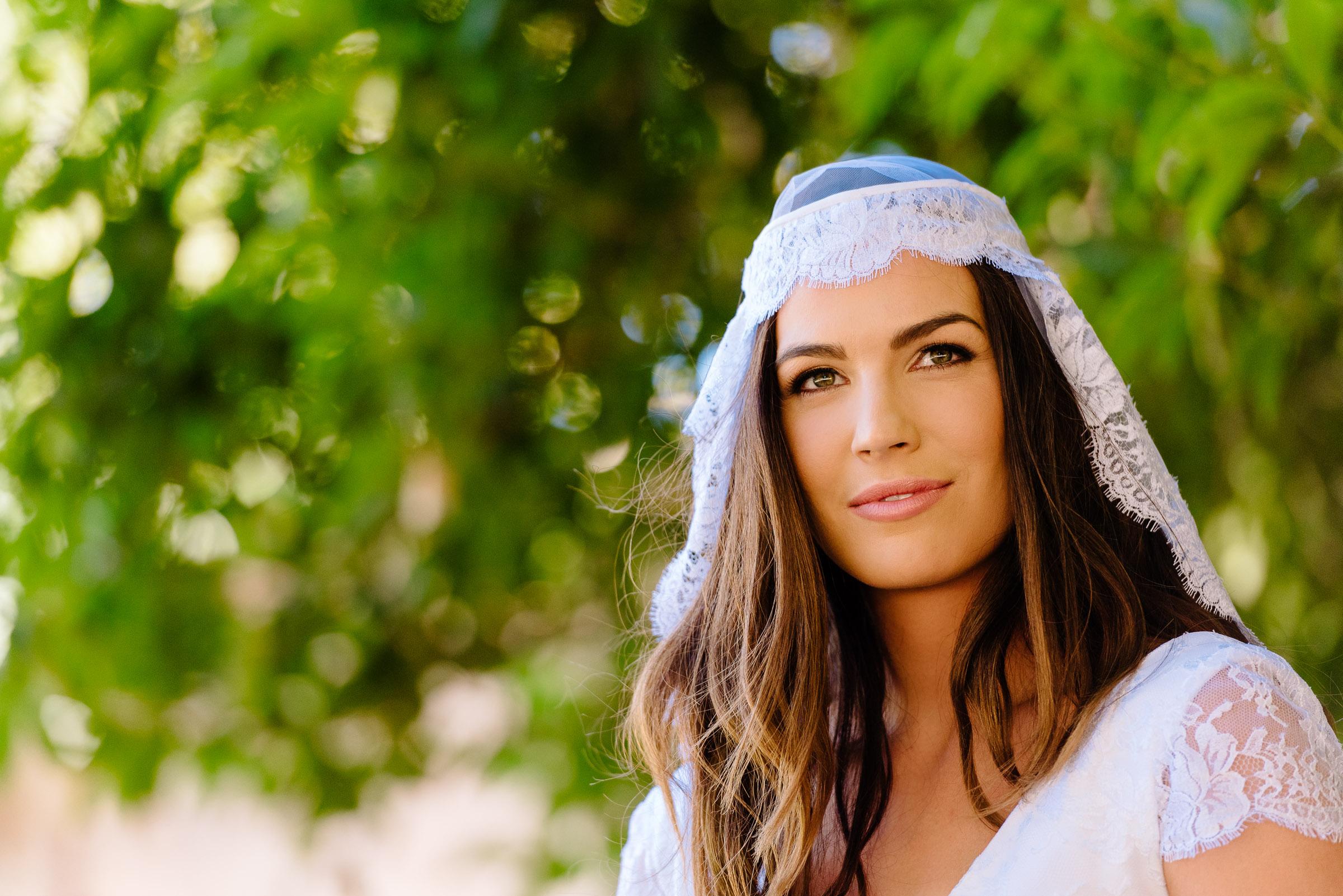 Carly the beautiful bohemian bride at her Chateau Dore wedding in Bendigo