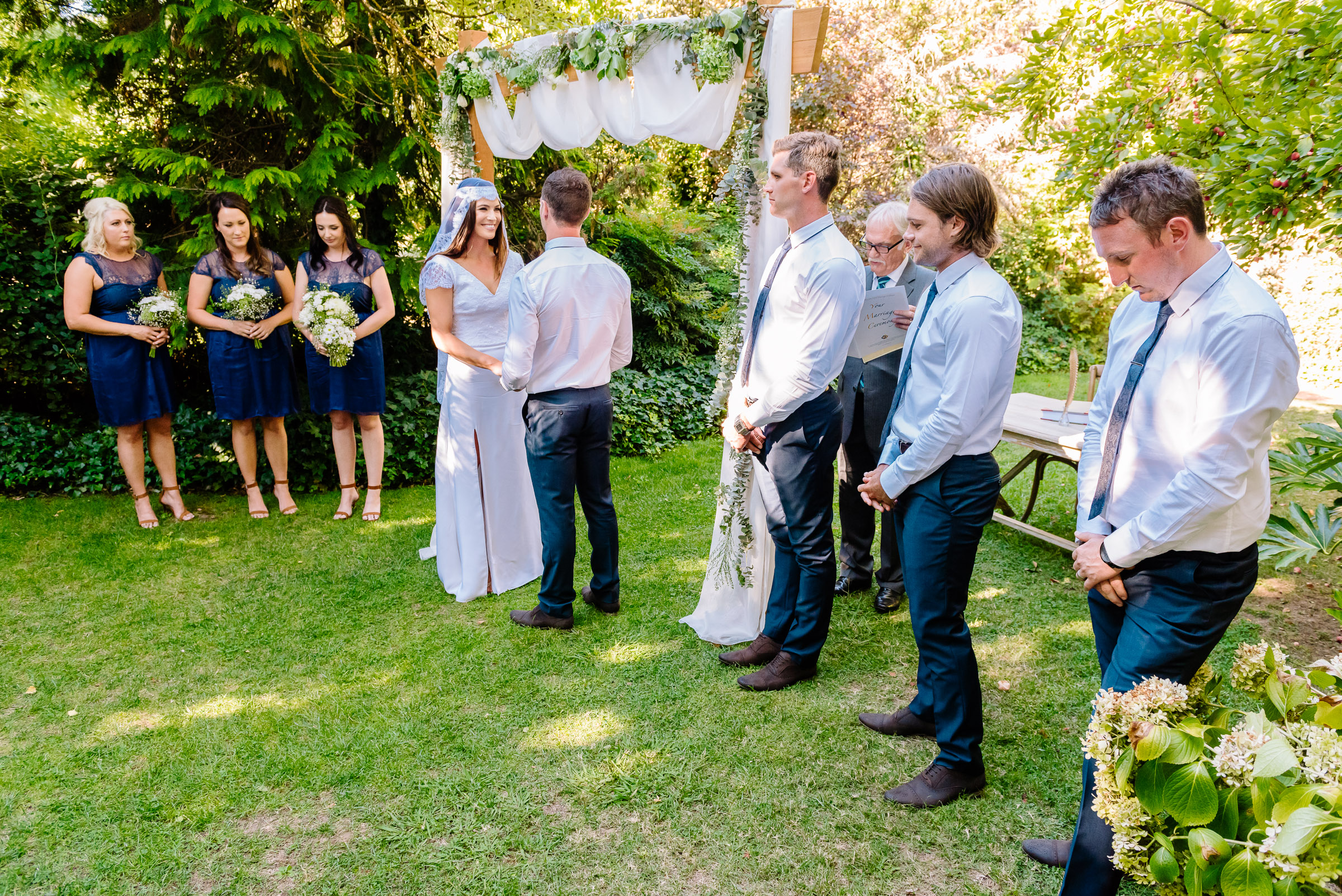Carly and Daniel's outdoor ceremony at Chateau Dore Winery in Bendigo