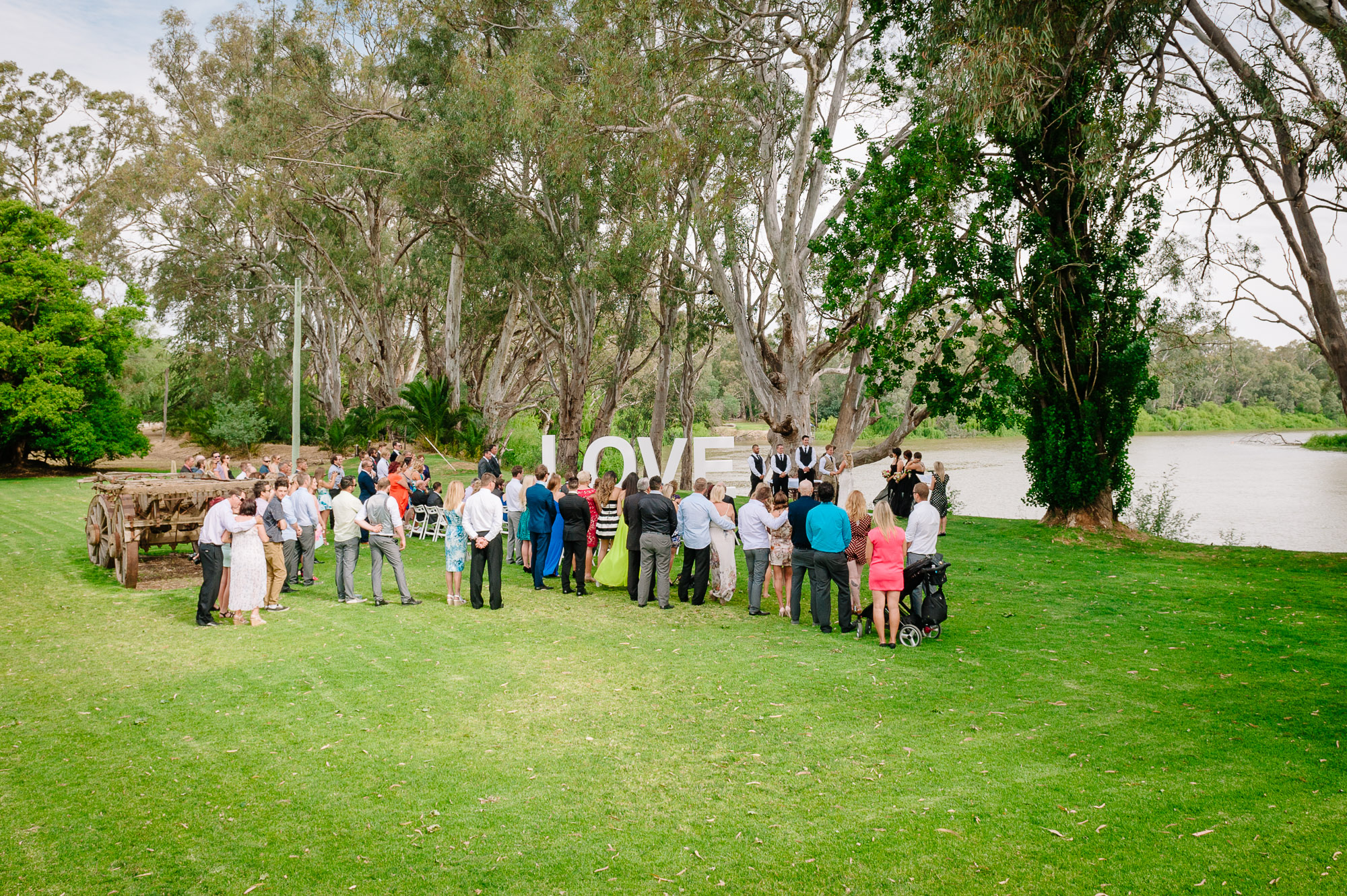 Perricoota Station Ceremony by the Murray River