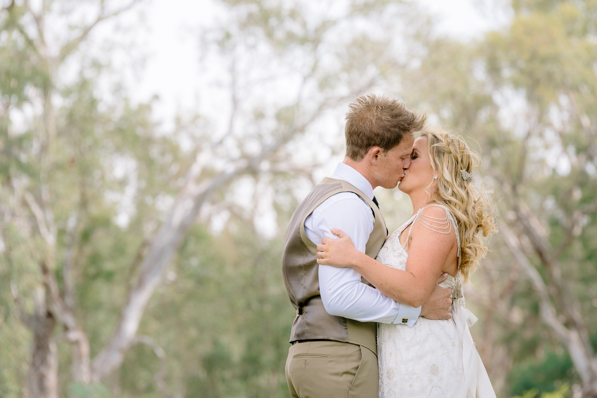 First kiss by the Murray River at Perricoota Station, Echuca