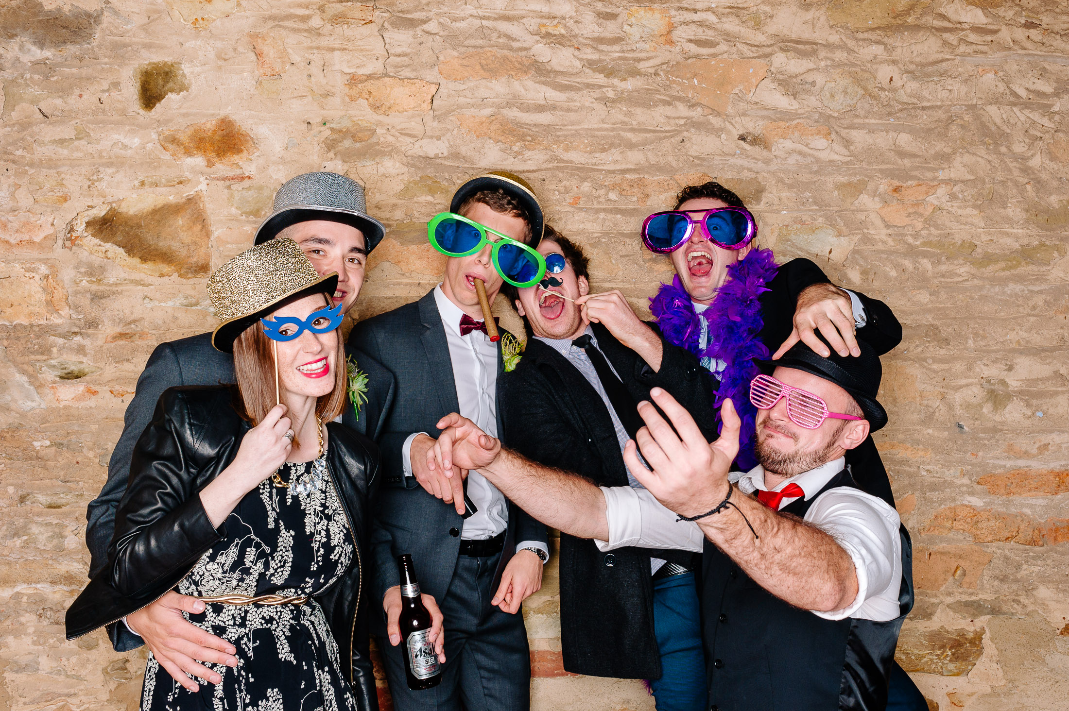 Photo booth at Chateau Dore