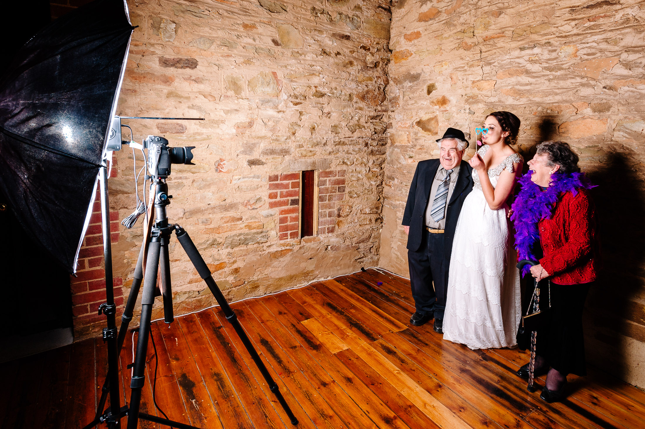 Photo Booth at Chateau Dore Wedding