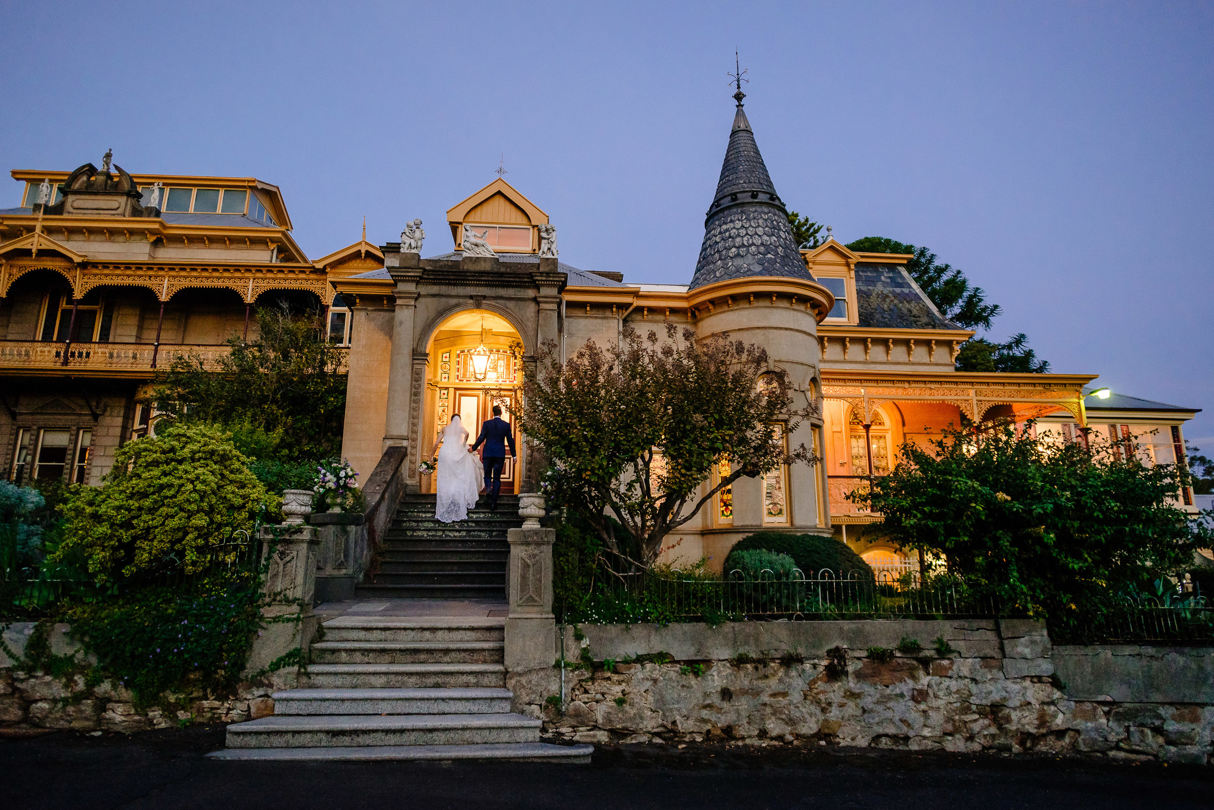 Fortuna Villa Wedding at Dusk