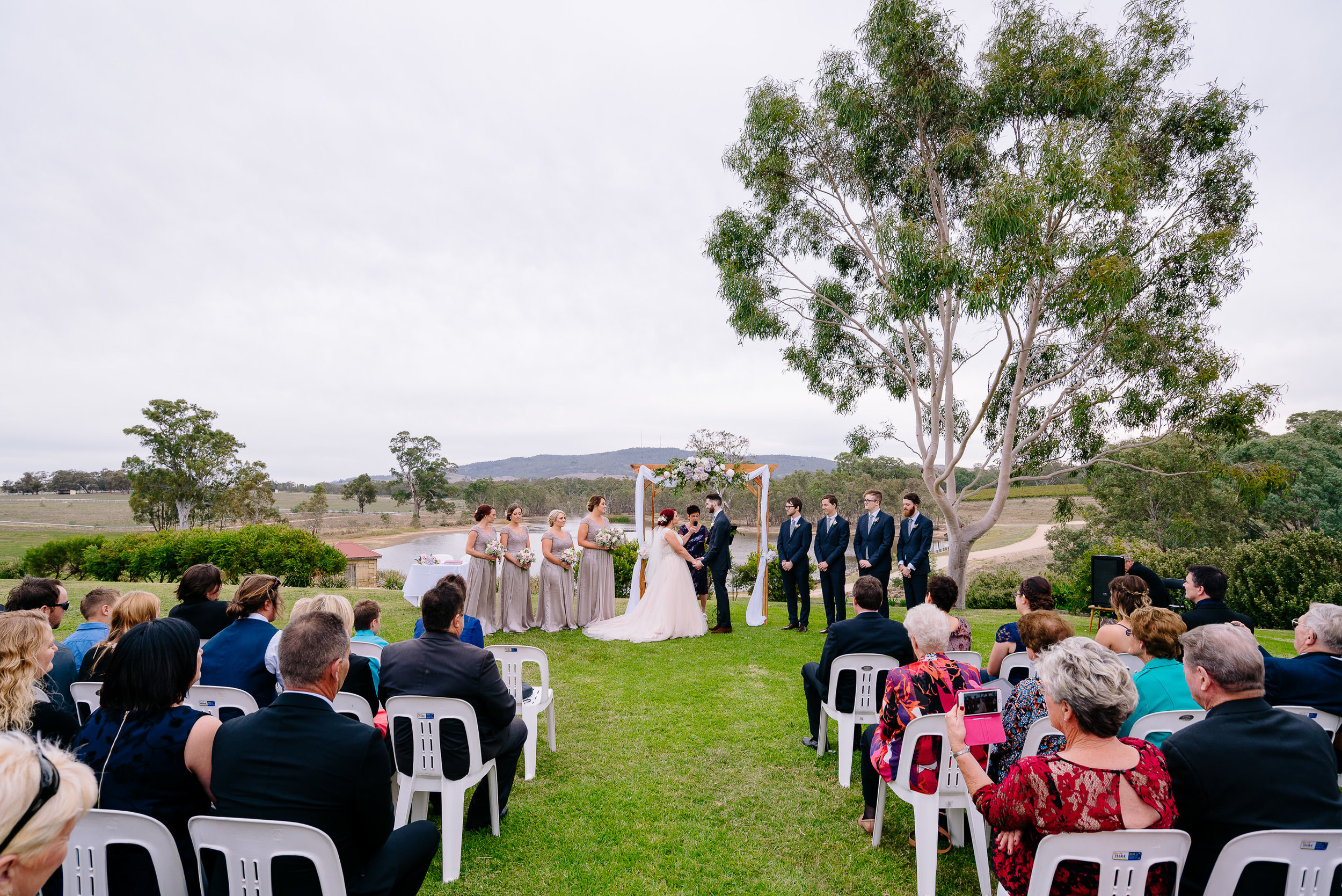 Sutton Grange Winery Outdoor Wedding Ceremony