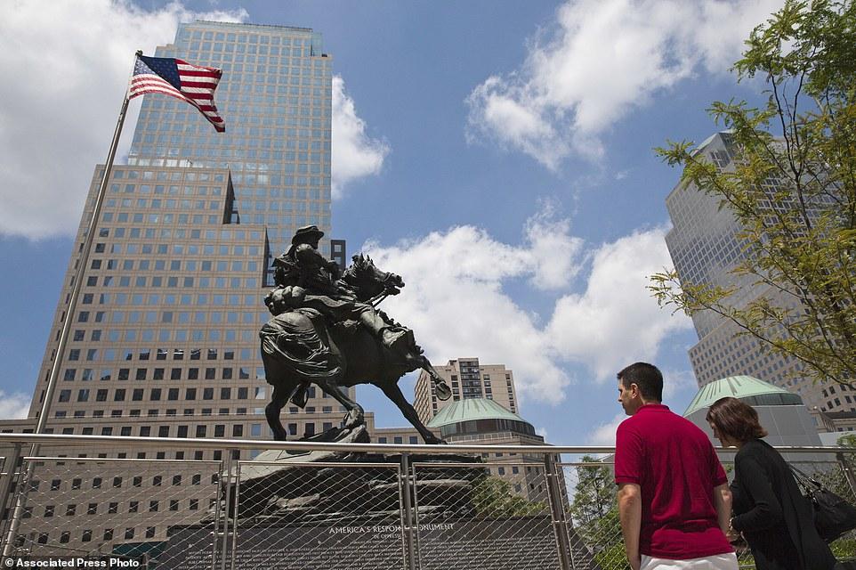 America's Response Monument bronze sculpture in Liberty Park