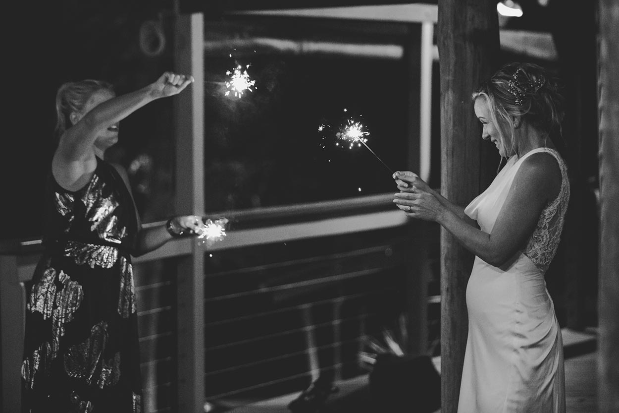 Yandina, The Rocks, Wedding Party Sparklers - Noosa, Sunshine Coast Hinterland Destination Elopement