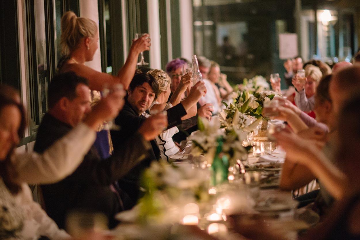 Noosa Wedding Toast - Sunshine Coast, Australian Photographers