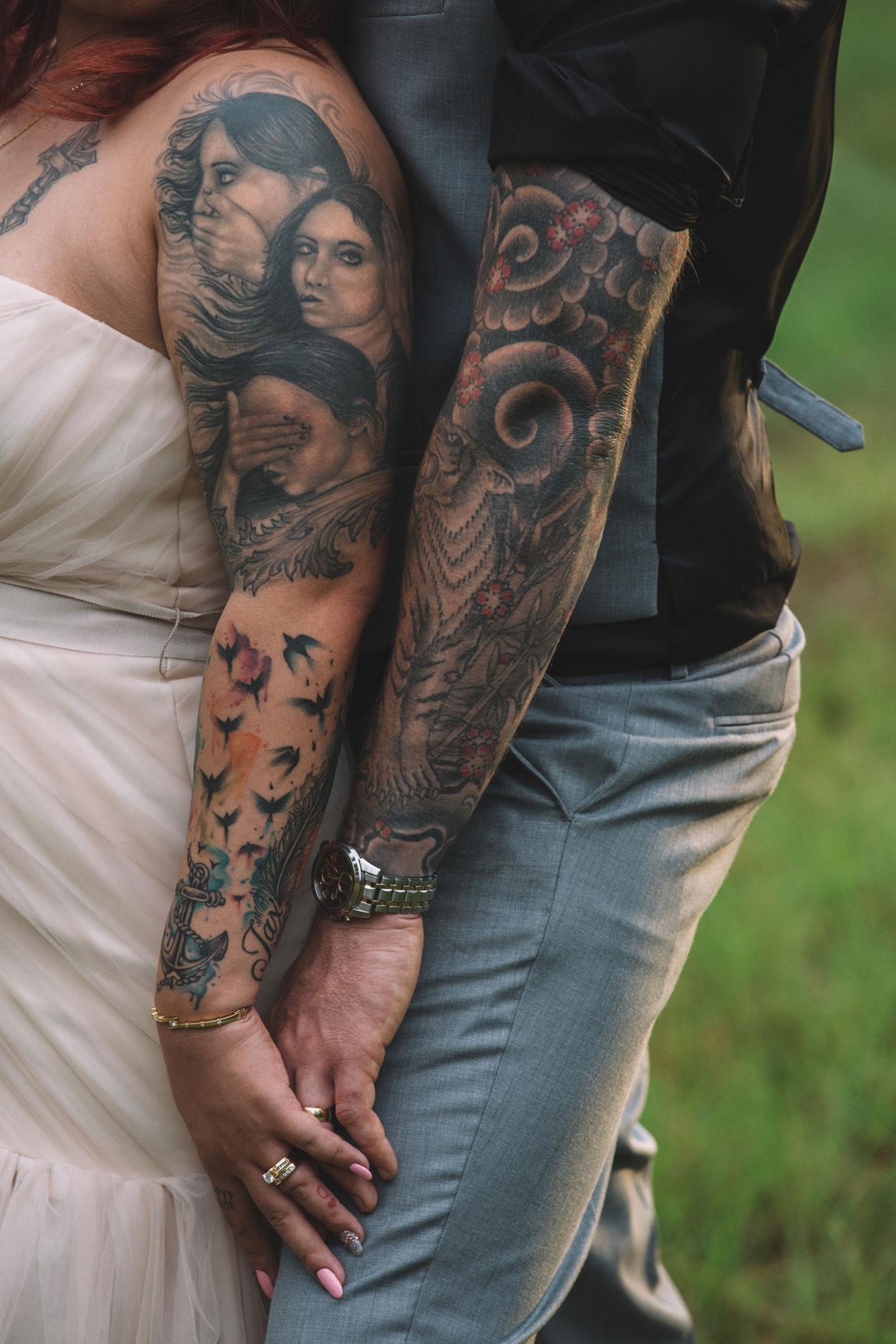 Rock n Roll Bride - Maleny, Sunshine Coast, Australian Photographers