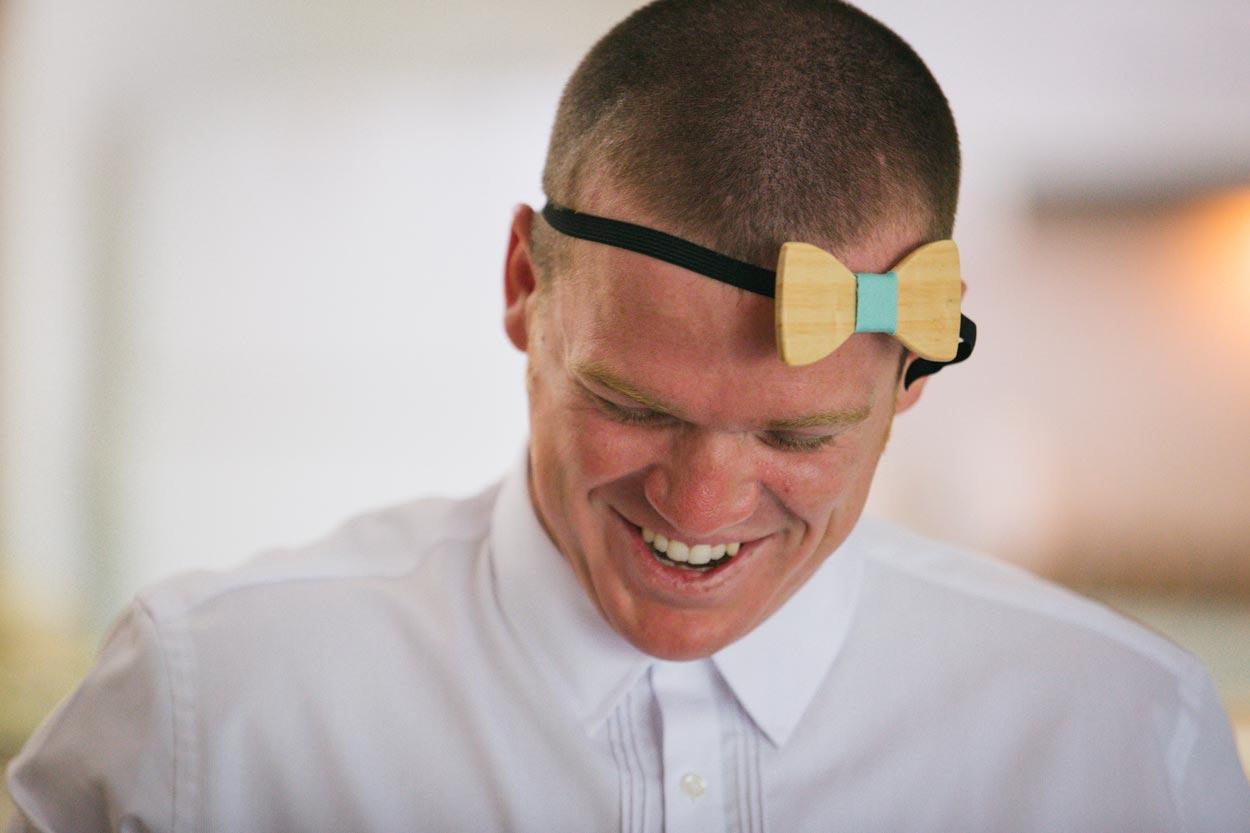 Wooden Bow Tie - Sunshine Coast Fashion Wedding Photographer