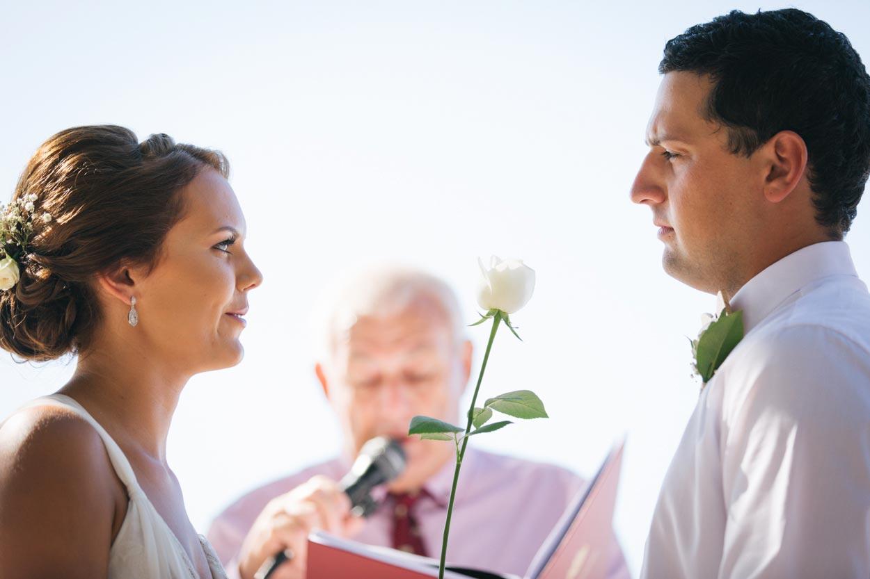 Roses Wedding Bouquet - Mooloolaba, Sunshine Coast Photographer