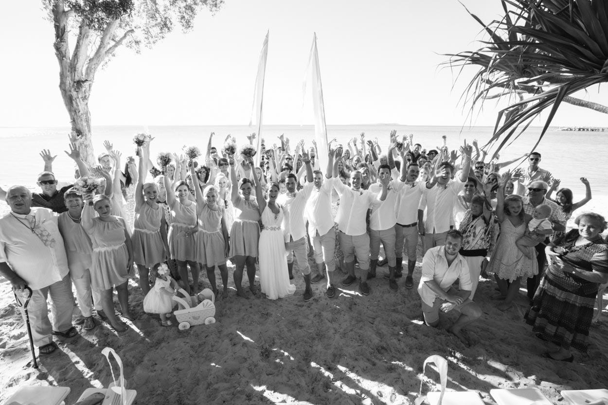 Fraser Island Beach Group Shot - Sunshine Coast Wedding Photographers