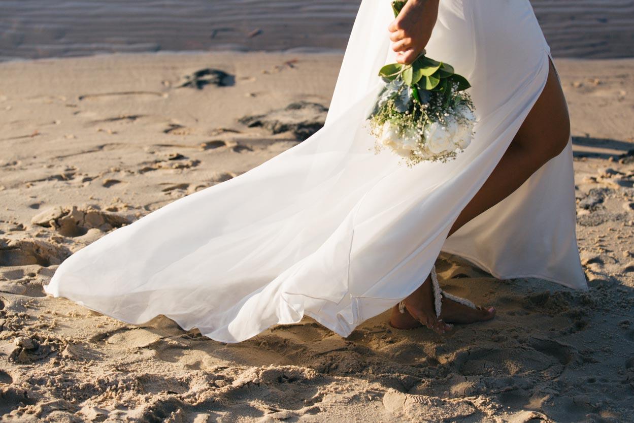 Boho Wedding Dress - Kingfisher Bay Resort, Fraser Island Photographers