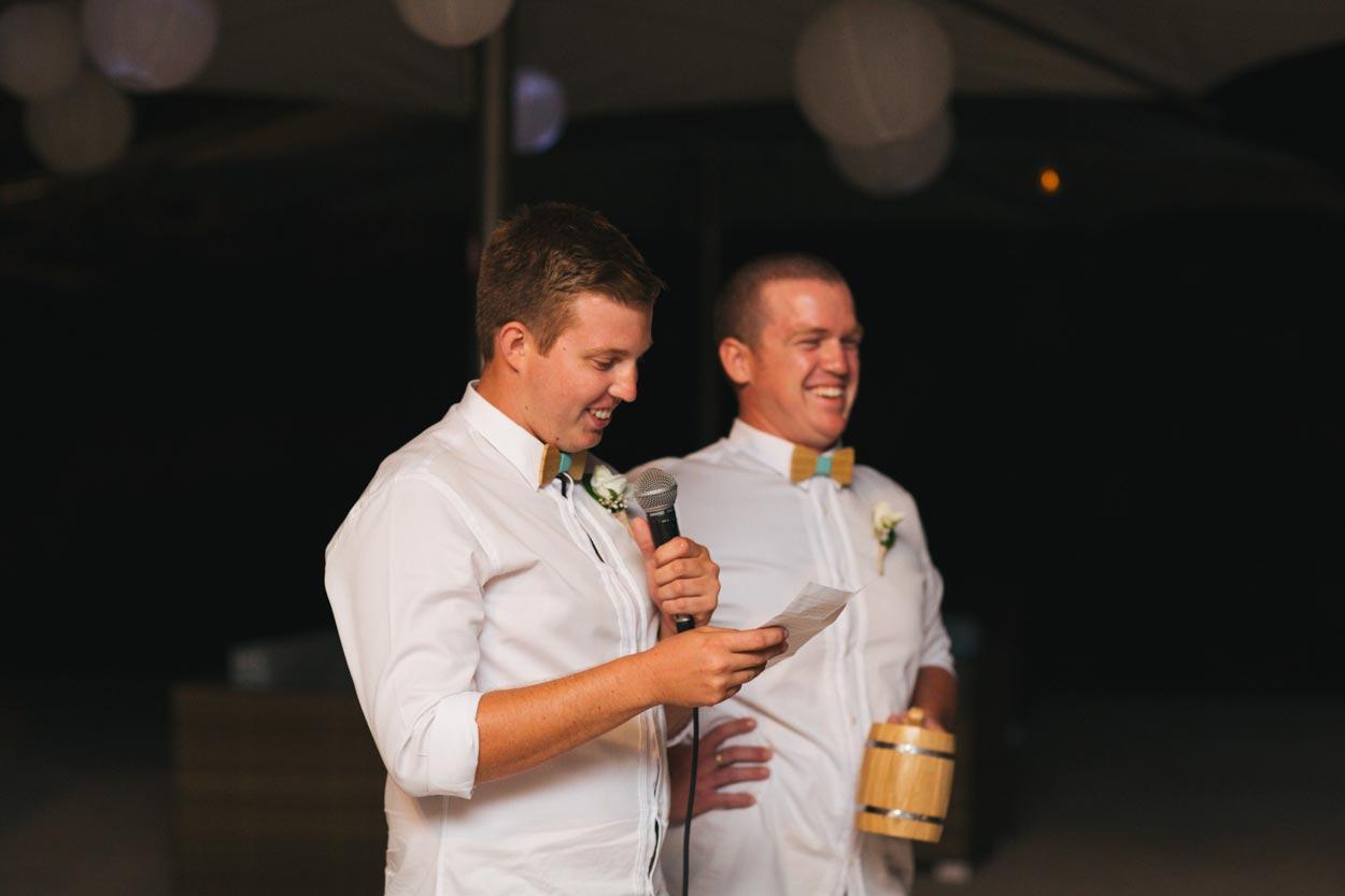 Excellent Wedding Speech - Caloundra, Sunshine Coast Photographers