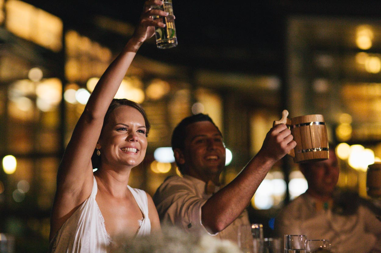 Wedding Toast in Montville - Sunshine Coast Photographer, Brisbane