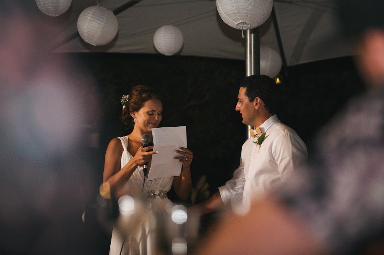 Emotional Wedding Speech - Noosa, Sunshine Coast Photographer