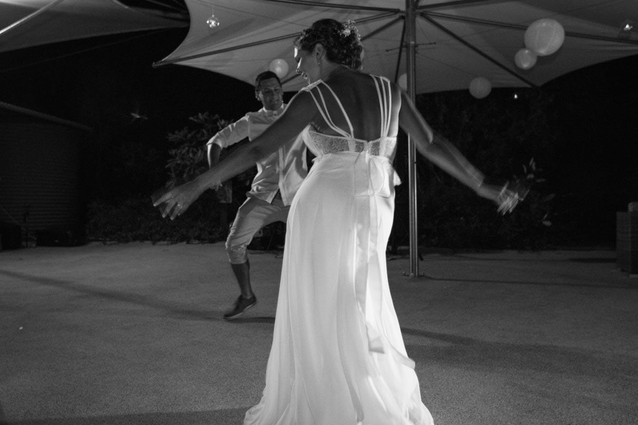 Rock n Roll Bride Dancing - Sunshine Coast Wedding Photographers