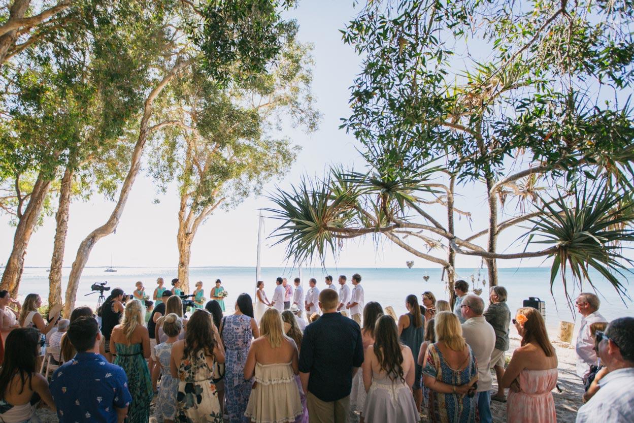 Wedding Ceremony at Sunset Beach, Brisbane - Fraser Island, Queensland, Australian Destination Photographers