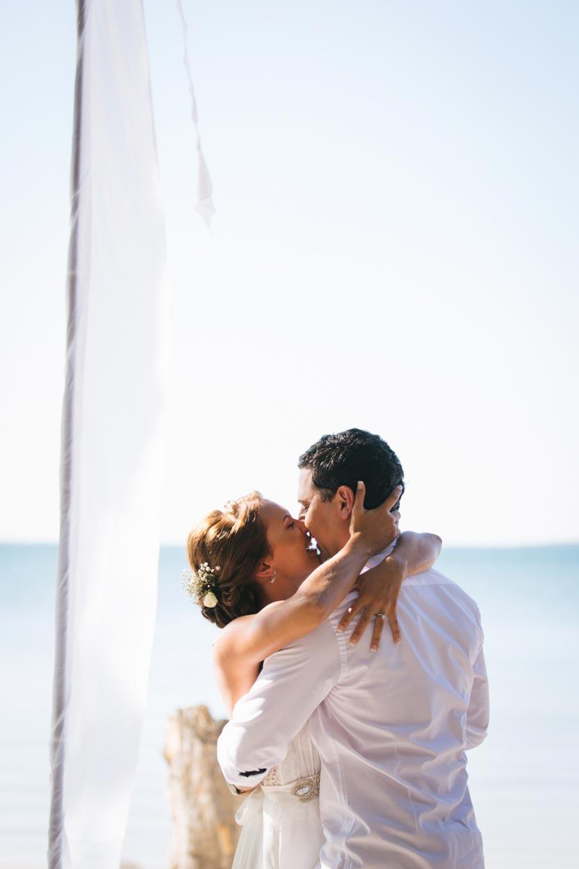 Noosa Elopement Kiss - Sunshine Coast, Queensland, Australian Destination Photographer