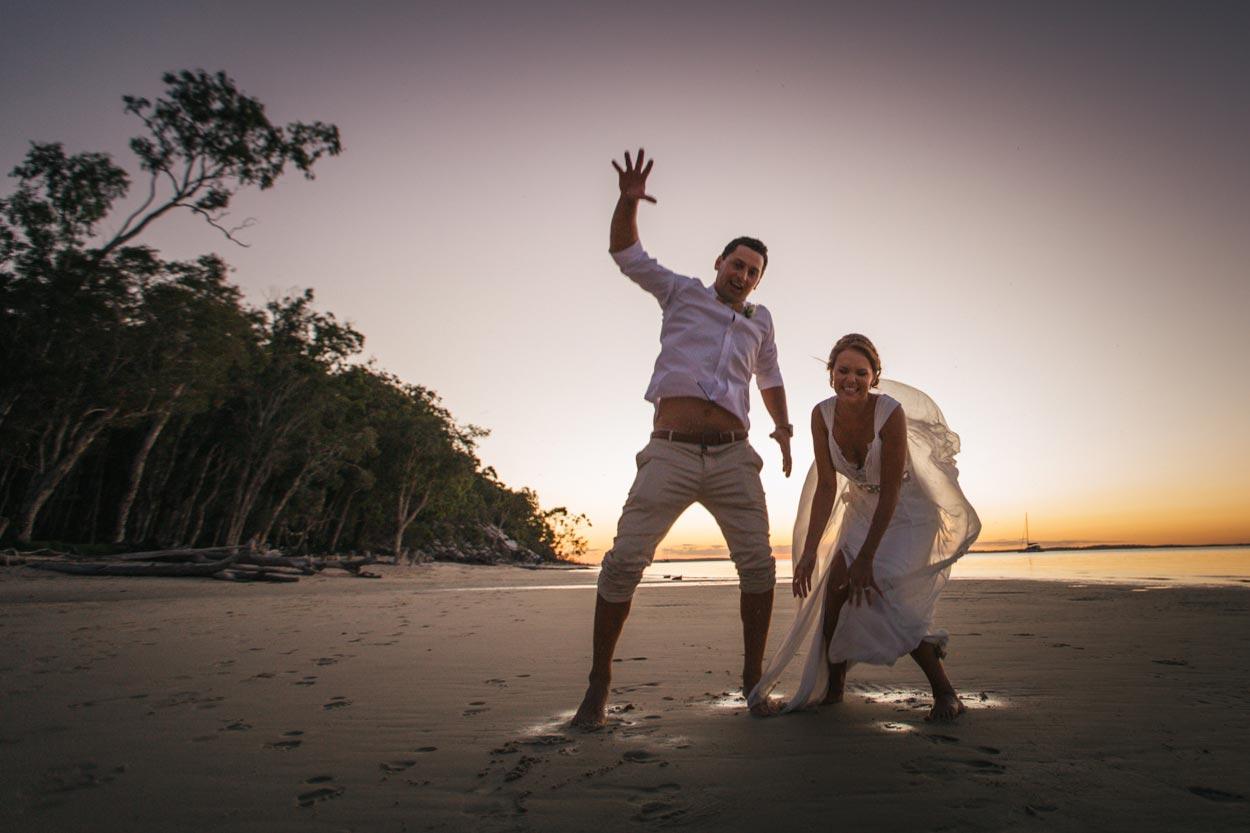 Sunset Beach, Queensland Wedding Fun - Sunshine Coast, Australian Destination Photographer