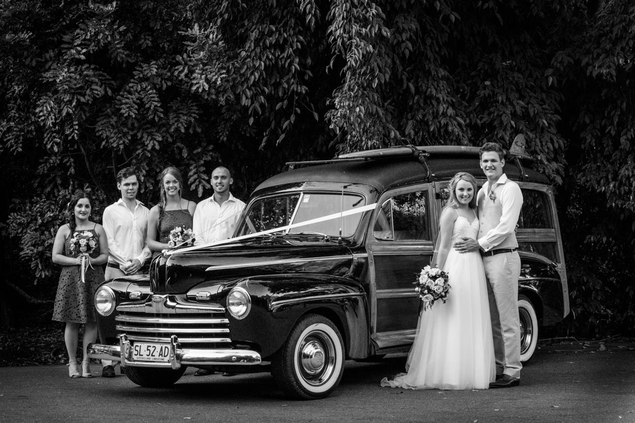 Sunshine Coast, Queensland, Destination Australian Photographer - Noosa Woody Wedding Car