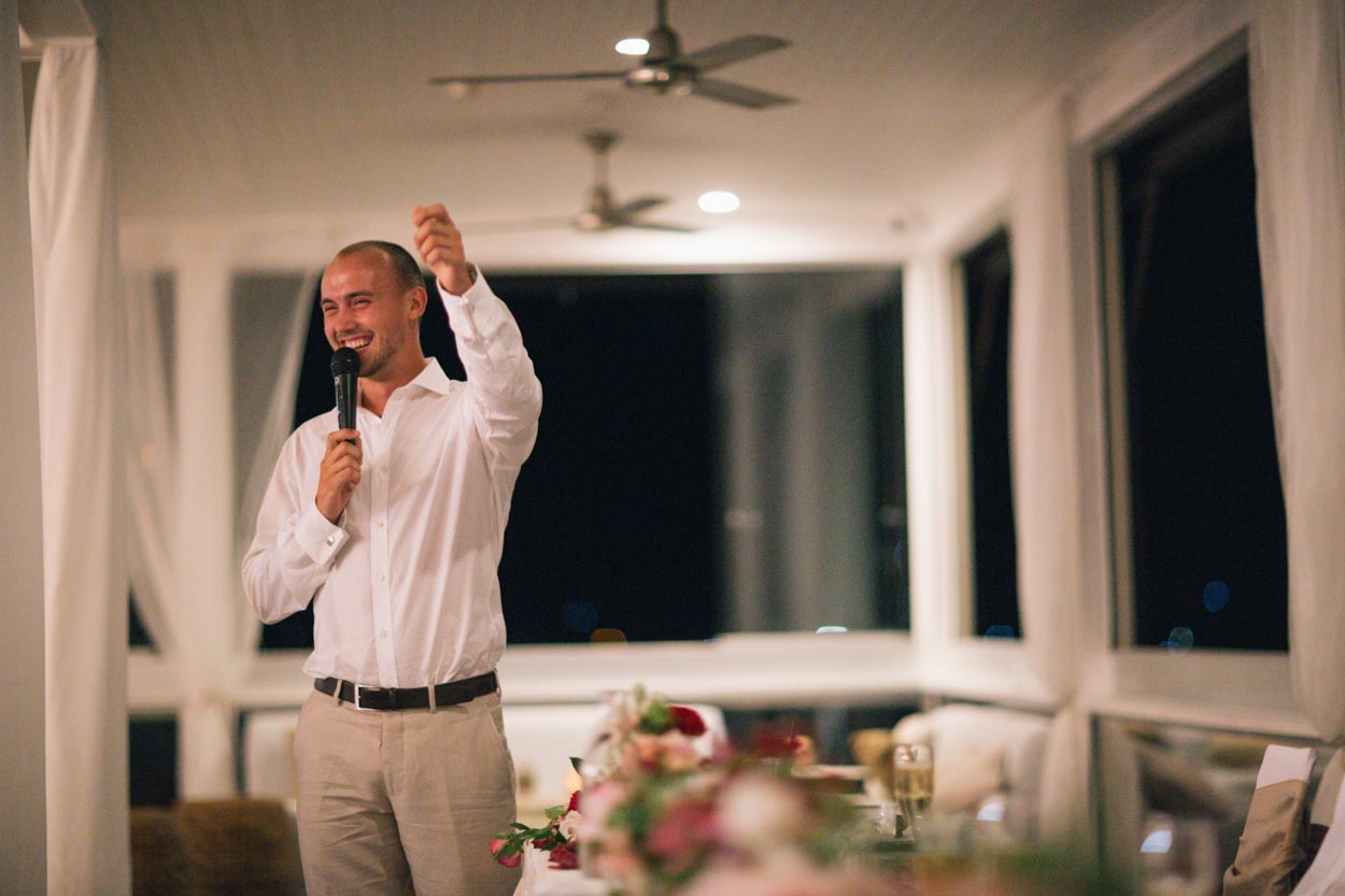 Best Man Speech, Noosa Boathouse Wedding - Sunshine Coast, Queensland, Destination Australian Photographer