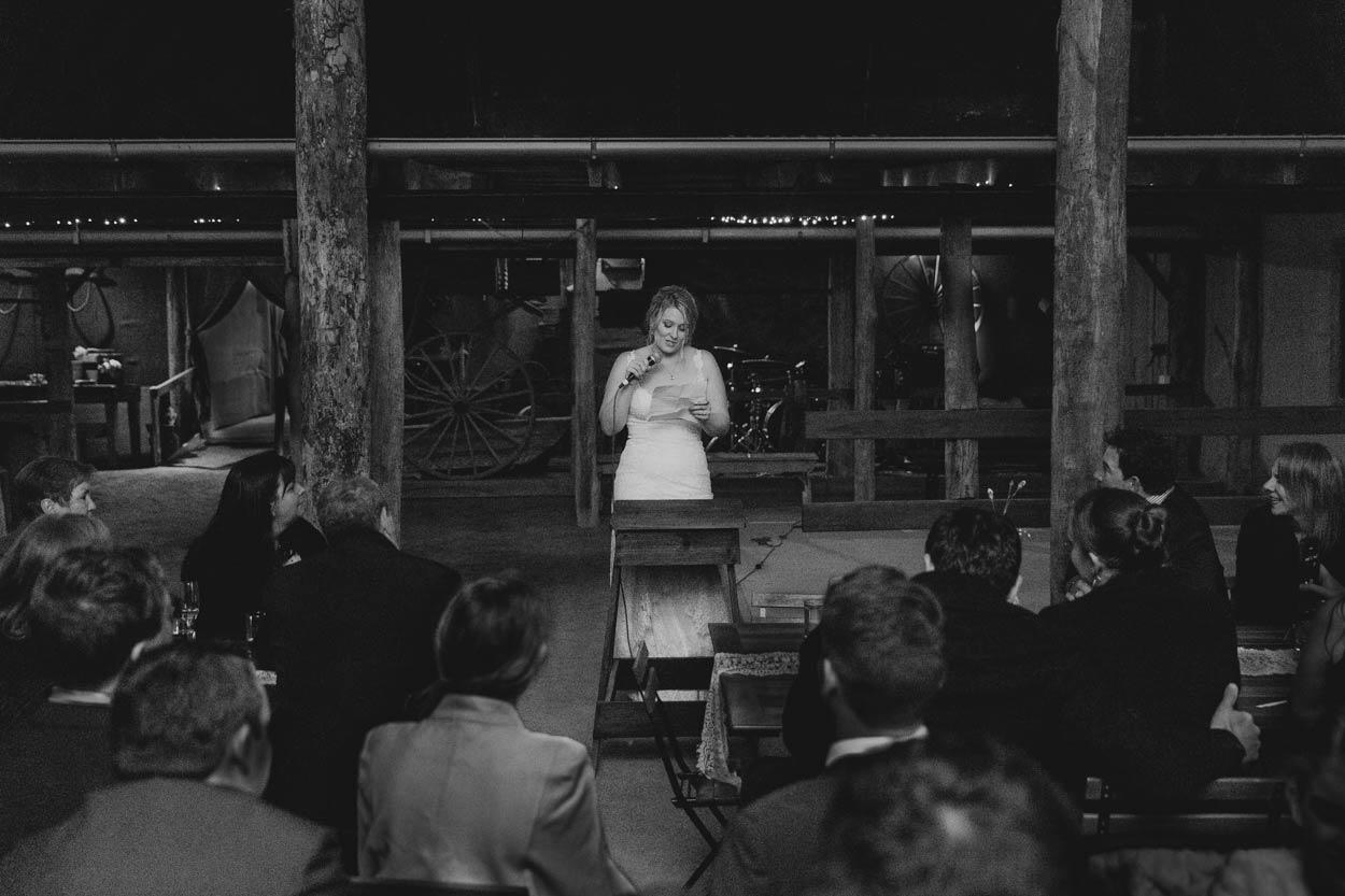 Bride Speech, Yandina Station Reception Venue - Sunshine Coast, Brisbane, Australian Photographer