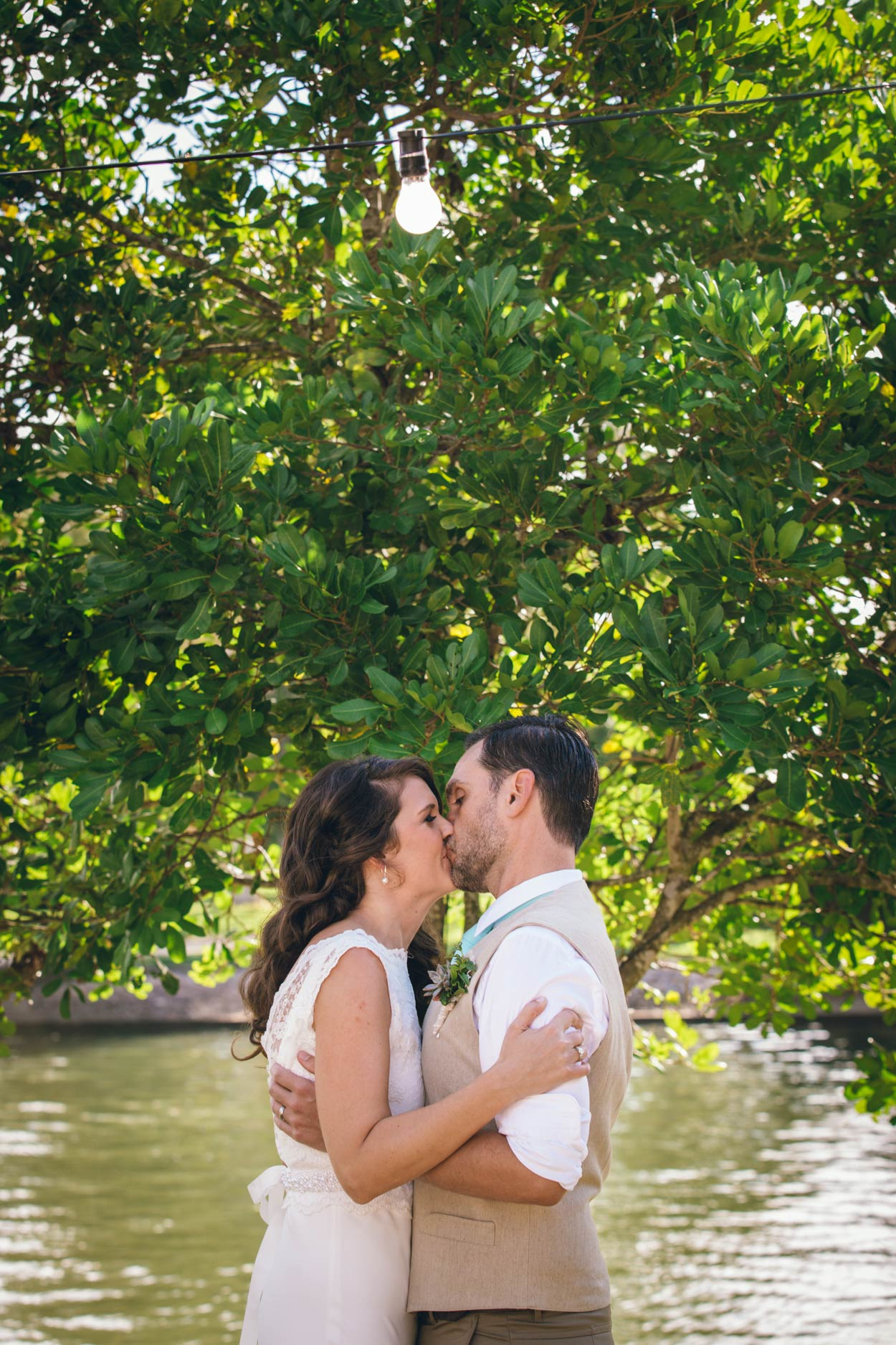 River Wedding Kiss, Noosa Waterfront Restaurant - Sunshine Coast, Brisbane, Australian Pre Photographers