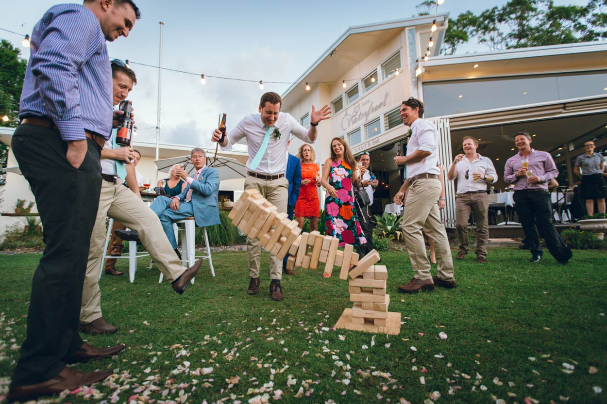 Giant Wedding Jenga, Sunshine Coast, Queensland Brides Blog - Brisbane, Australian Destination Photographers