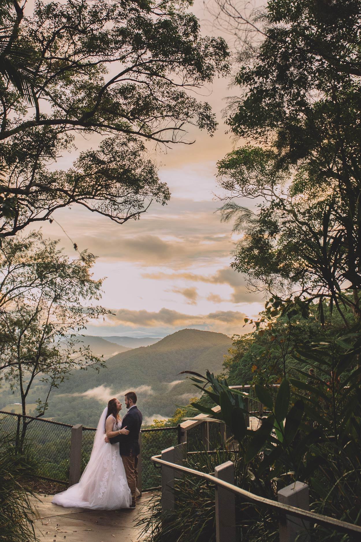 Mapleton Falls Lookout, Sunshine Coast Pre Wedding Photographer - Brisbane, Australian Destination