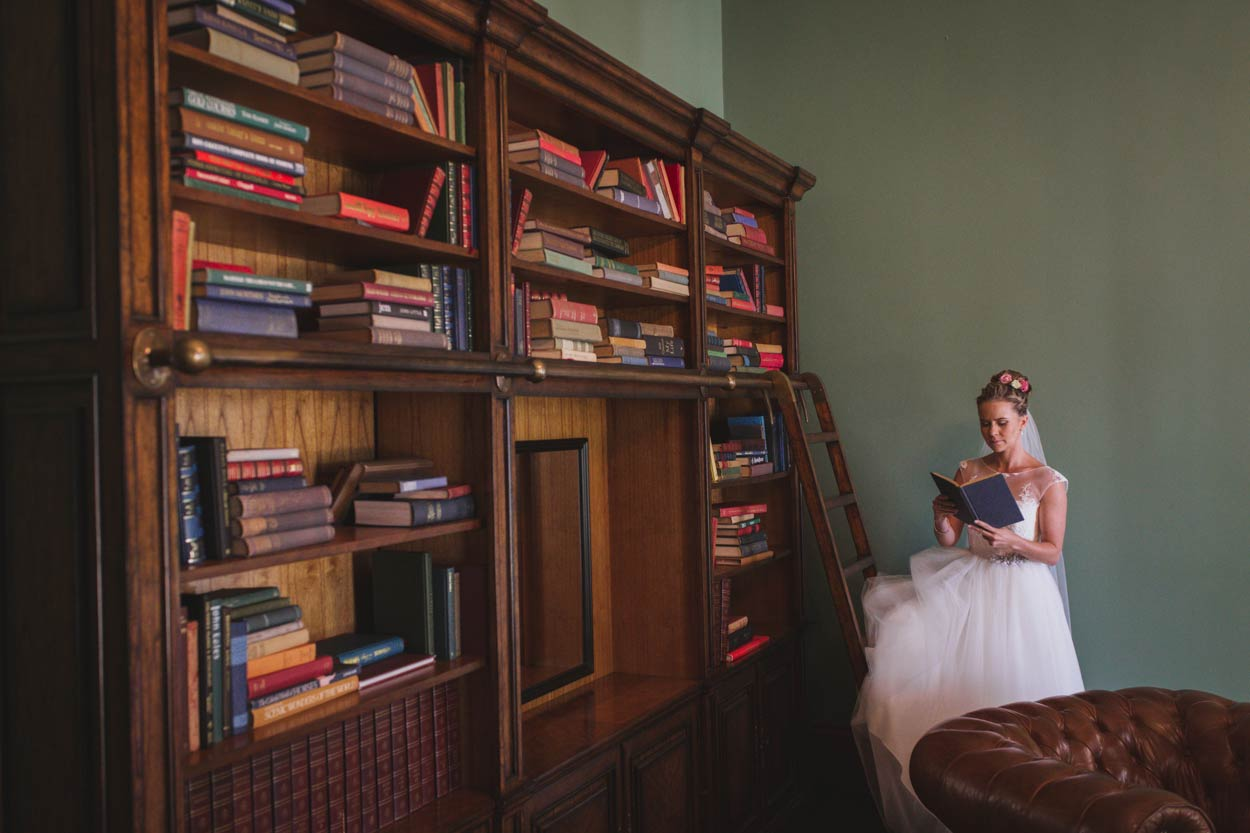 Gabbinbar Homestead Estate Library Wedding Portraits - Brisbane, Sunshine Coast, Australian Destination