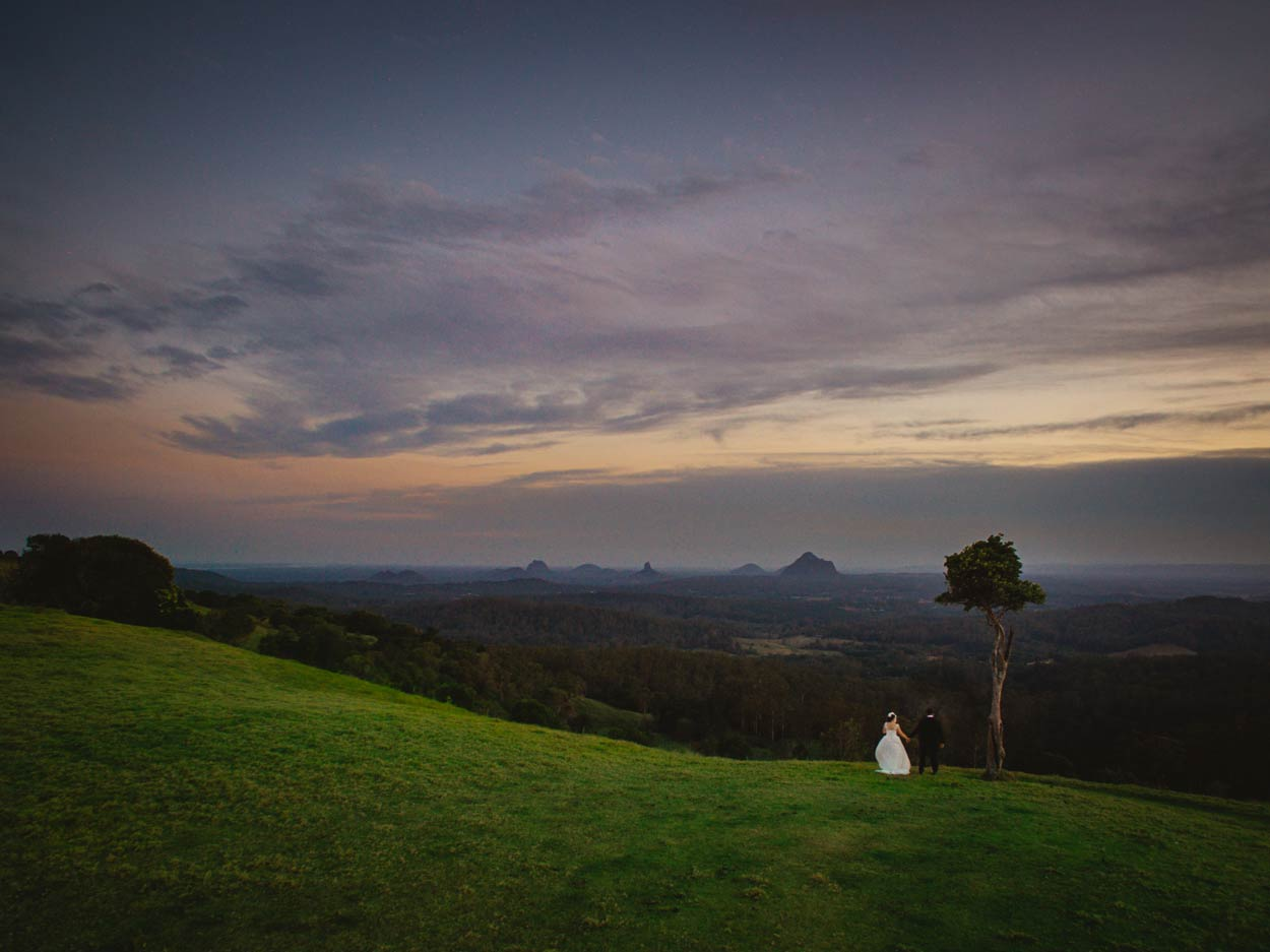 Maleny Drone Destination Wedding Photographer - Brisbane, Sunshine Coast Hinterland, Australian