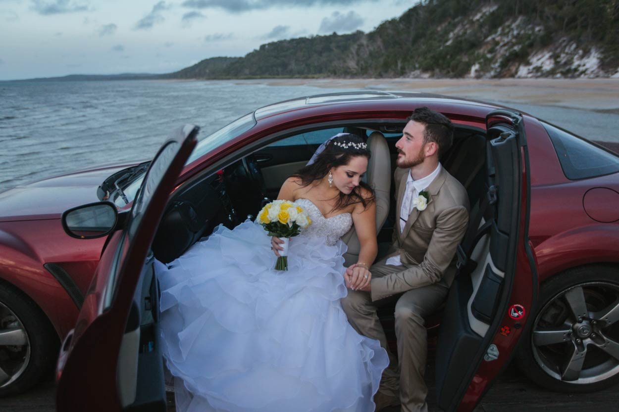 Sunset Beach Pier, Kingfisher Bay Resort, Fraser Island Destination Wedding Photographer - Sunshine Coast