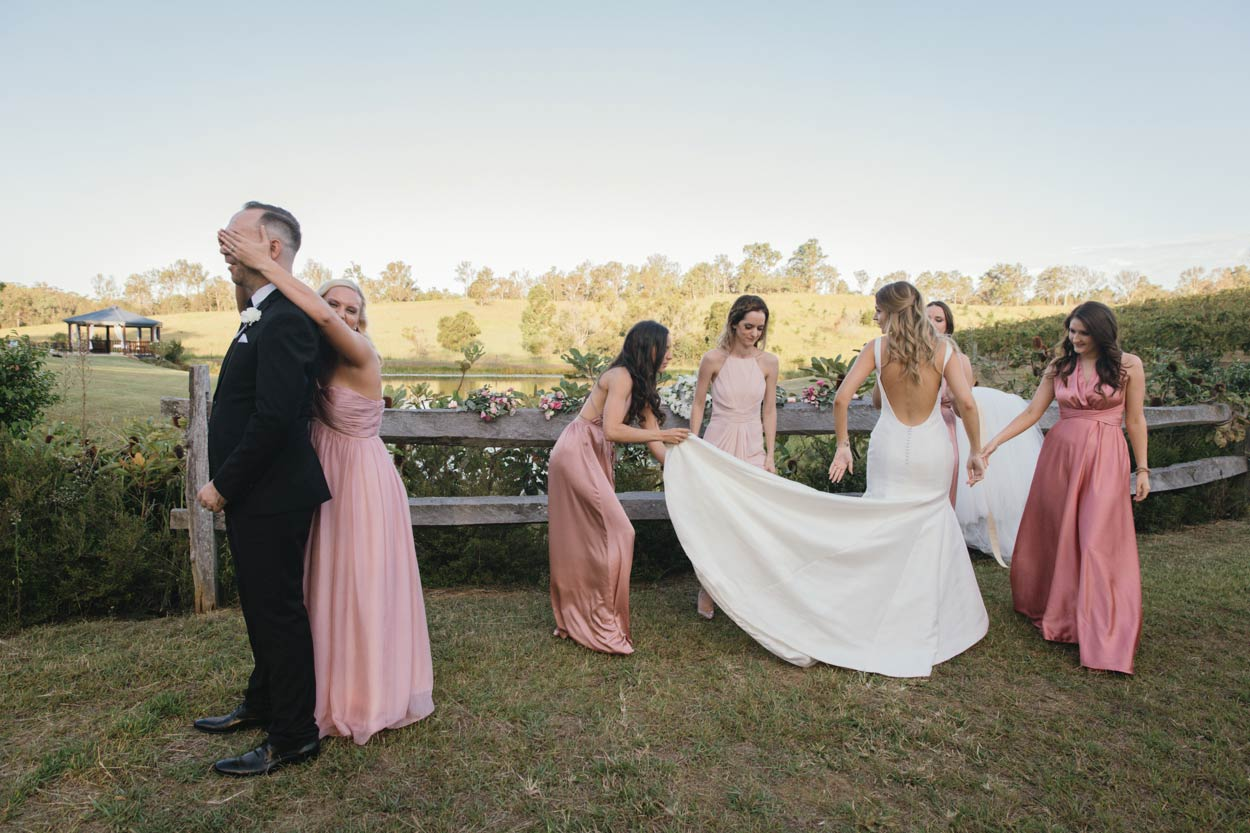 Sunshine Coast Destination First Look Photographer - Maleny, Montville, Australian Wedding Photos
