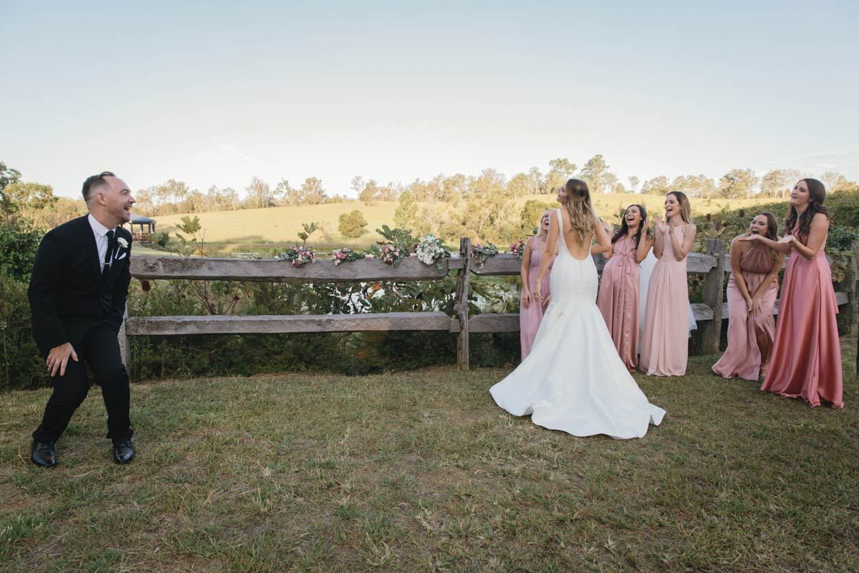 Sunshine Coast Destination First Look Photographers - Ocean View Estates, Australian Wedding