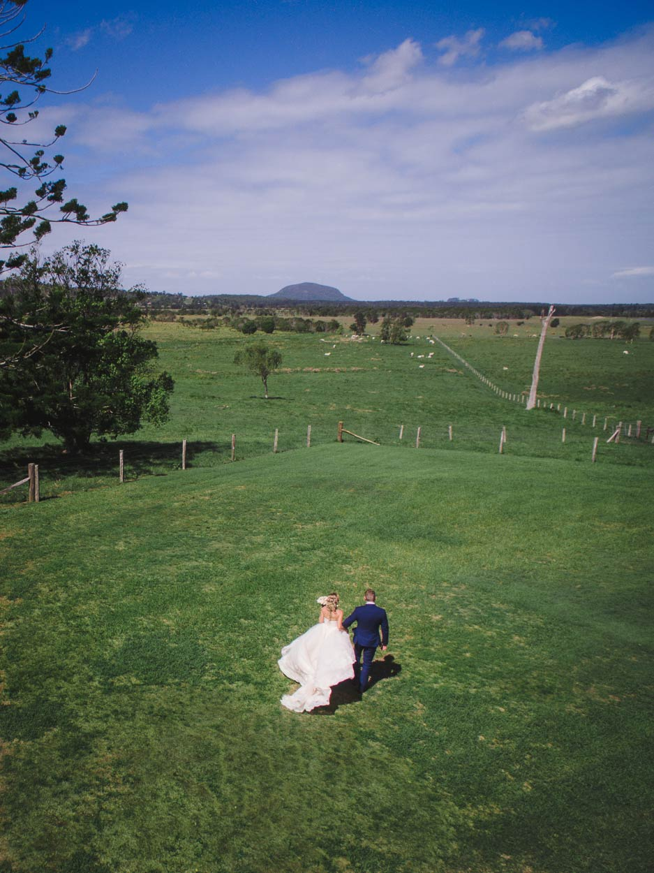 Yandina Station Drone Destination Wedding - Brisbane, Sunshine Coast, Australian Photographer