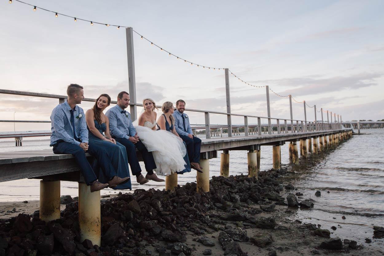 Sandstone Point Pier Portraits, Brisbane, Sunshine Coast - Destination Wedding Photographers, Australia