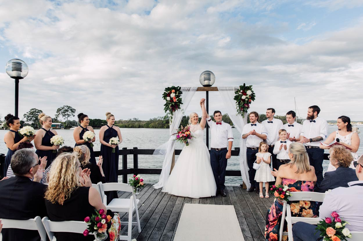 Modern Noosa Riverdeck Destination Wedding Photographers - Sunshine Coast, Brisbane, Australian