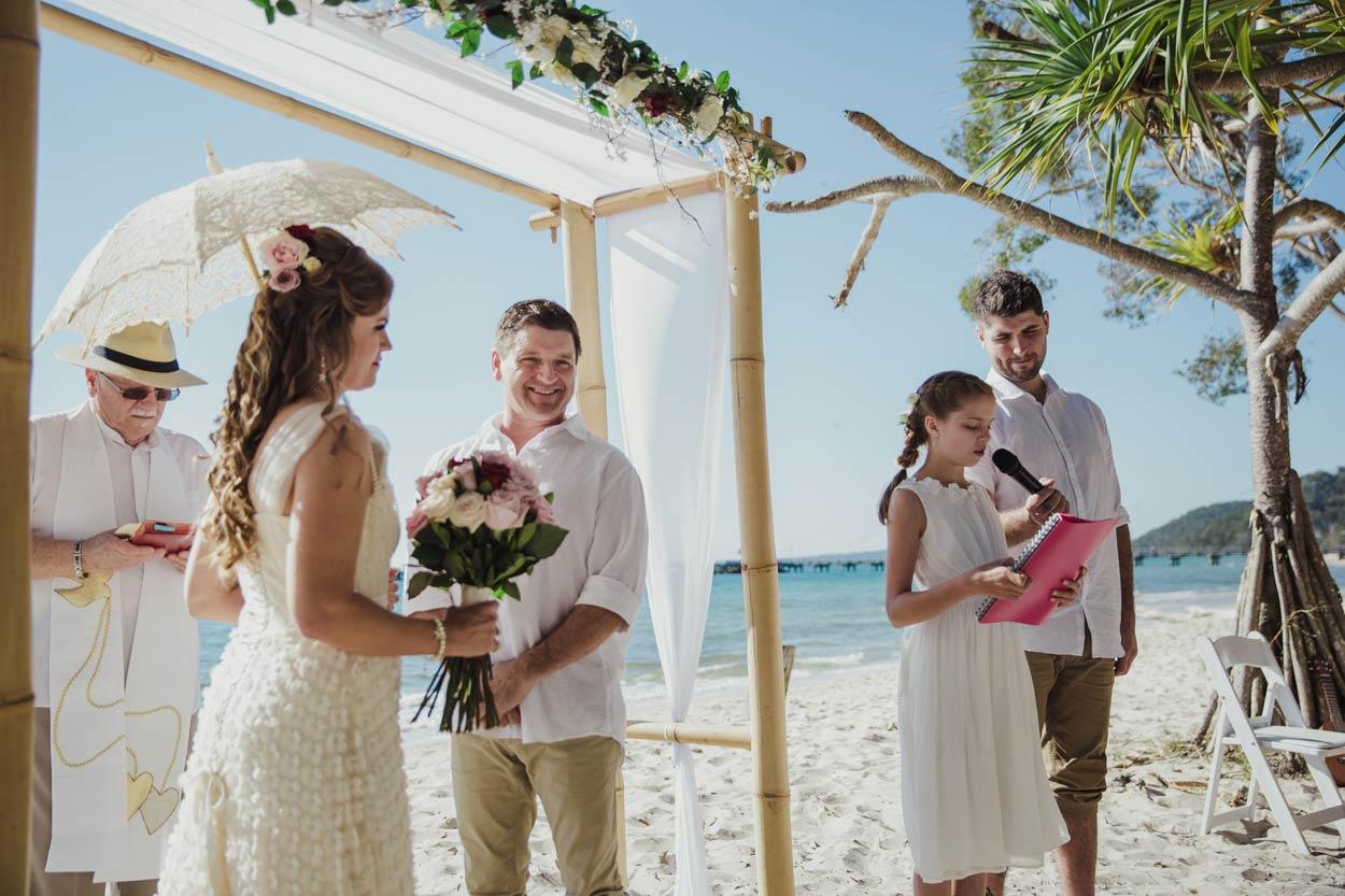 Candid Noosa Ceremony, Sunshine Coast - Brisbane, Queensland, Australian Destination Elopement