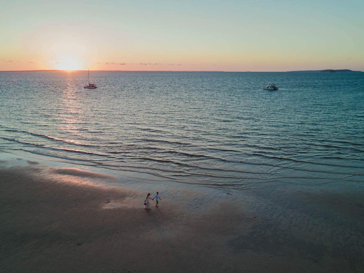 Noosa Drone Destination Wedding Photographer, Sunshine Coast - Brisbane, Australian Blog Elopement
