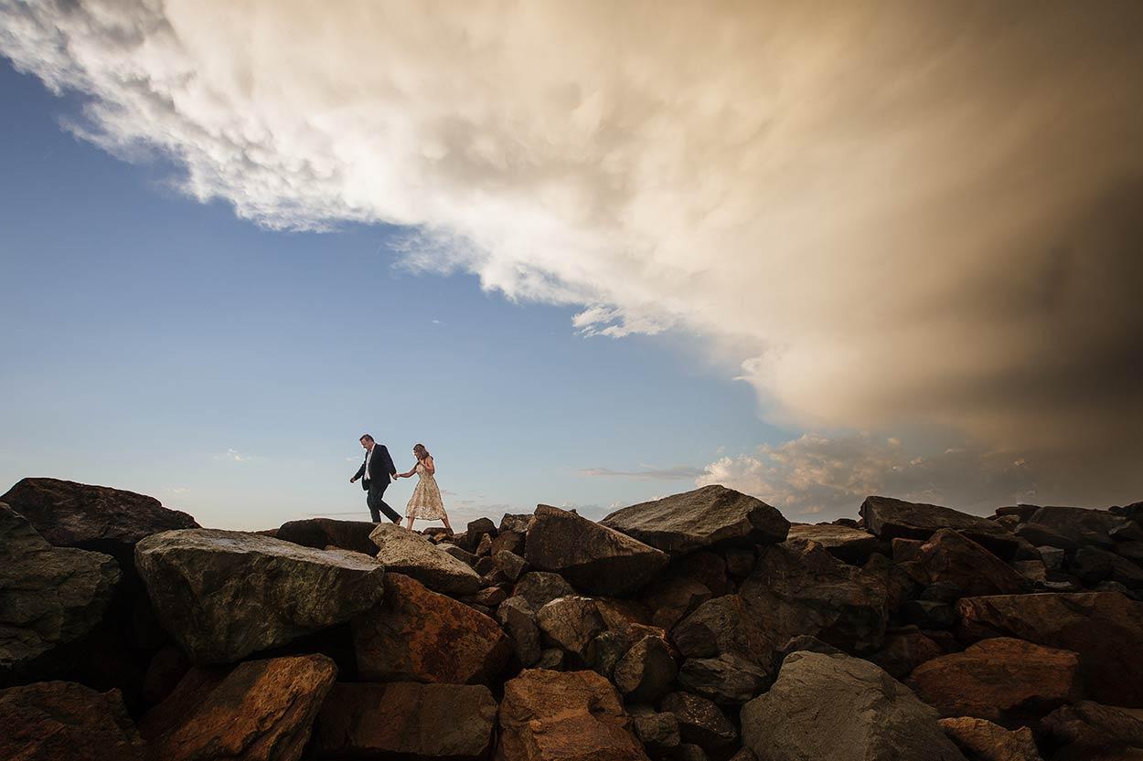 Noosa Beach Drone Destination Wedding - Maleny, Sunshine Coast, Queensland, Australian Photographers